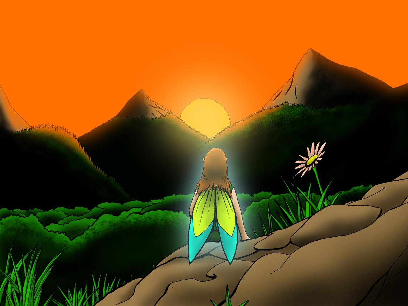 Planche dessin dessin d 39 un coucher de soleil - Dessin coucher de soleil ...