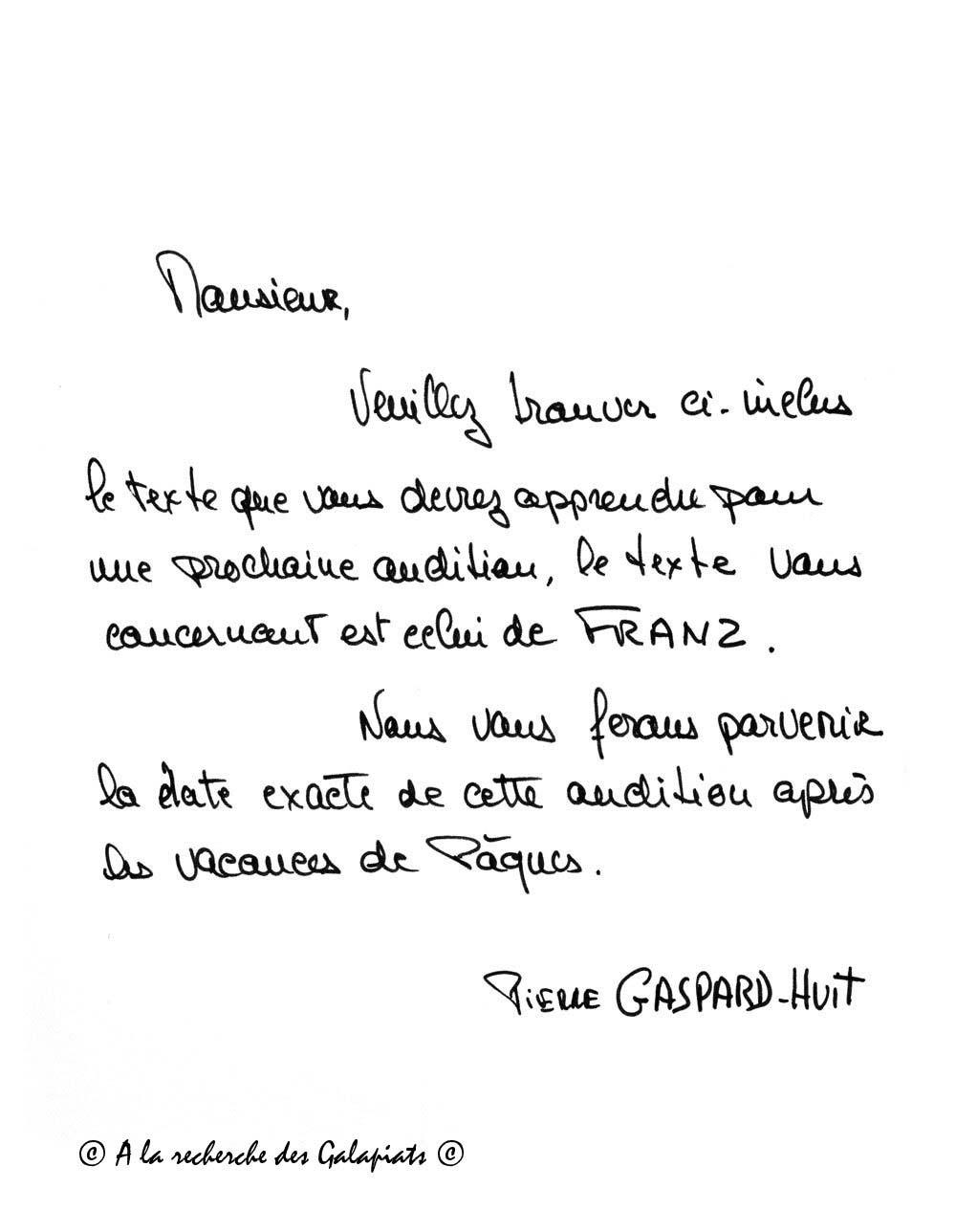 Sample Cover Letter: Exemple De Lettre Manuscrite