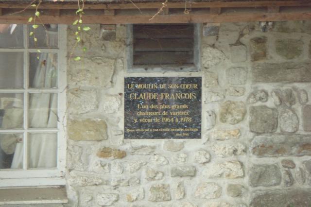 Claude Francois plaque du souvenir